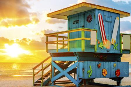 Baywatch Turm im Florida Urlaub