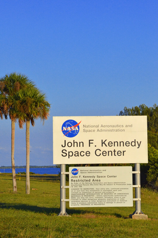 Willkommens Schild Kennedy Space Center