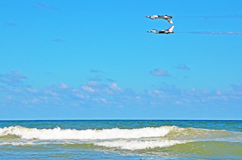 Airshow Daytona Beach mit Thunderbirds
