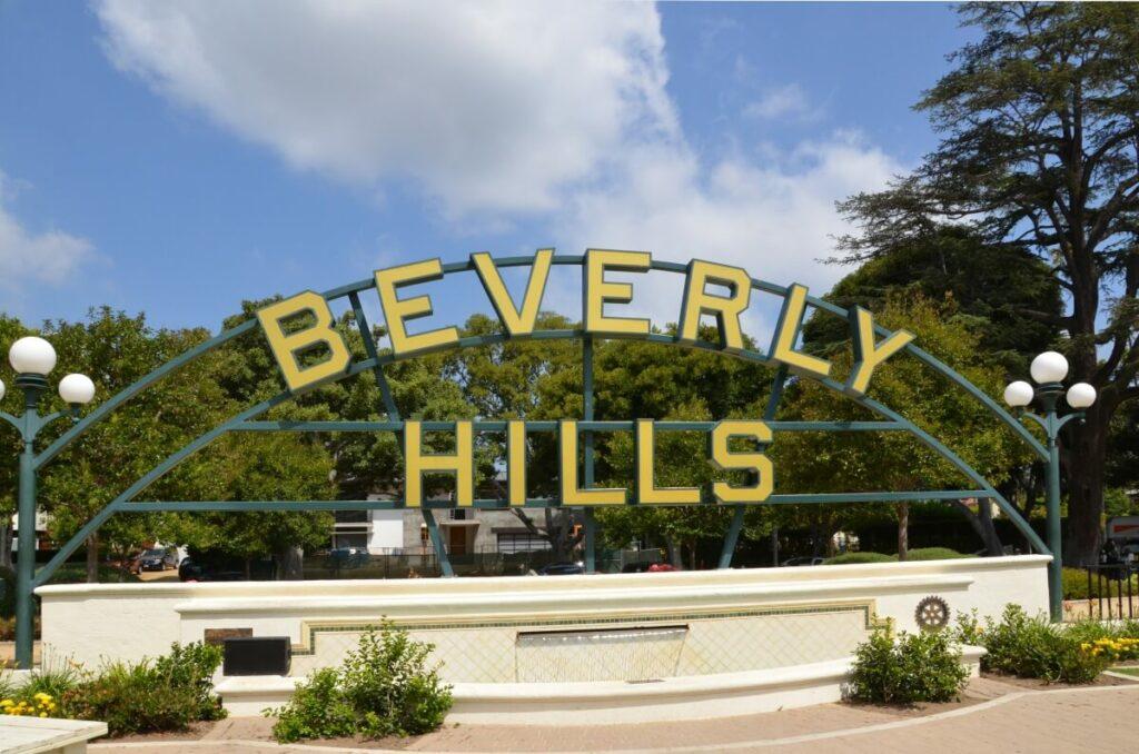 Ortsschild von Beverly Hills