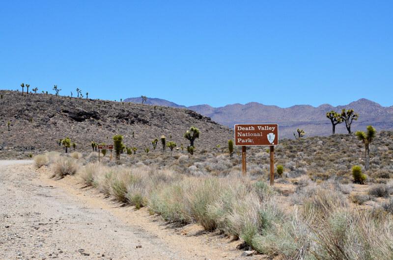 Sandstraße im Death Valley