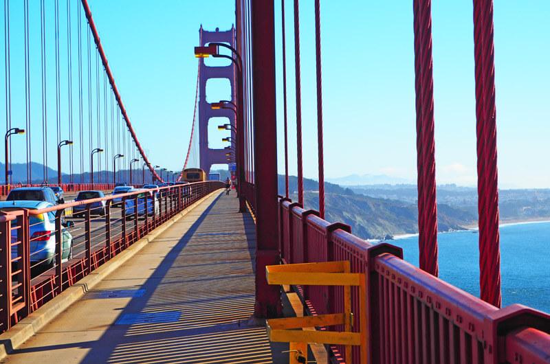 Radweg auf der Golden Gate Bridge