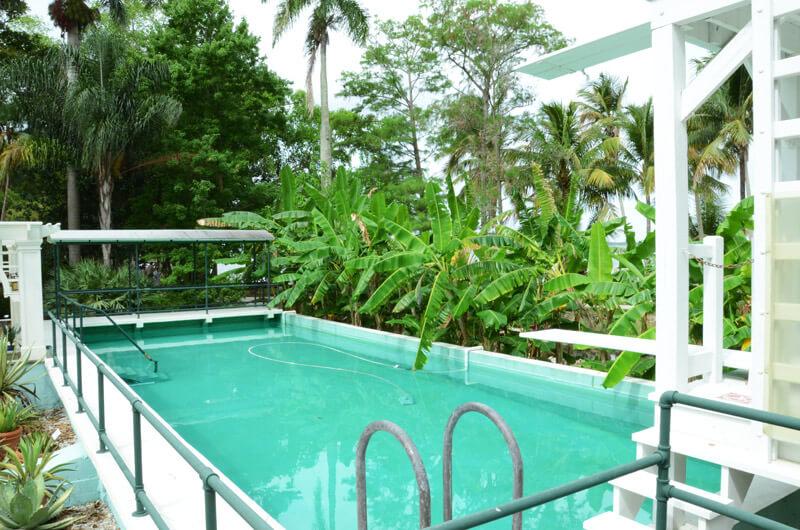 Erster Swimmingpool Floridas