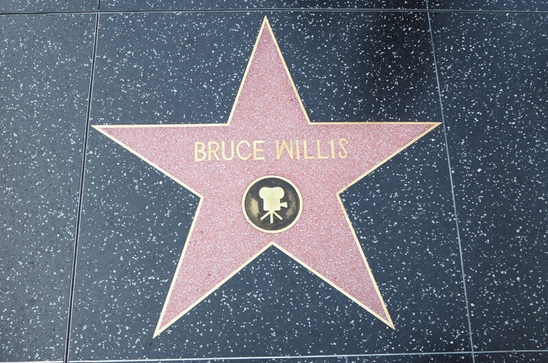 Bruce Willis Stern am Walk of Fame in Hollywood