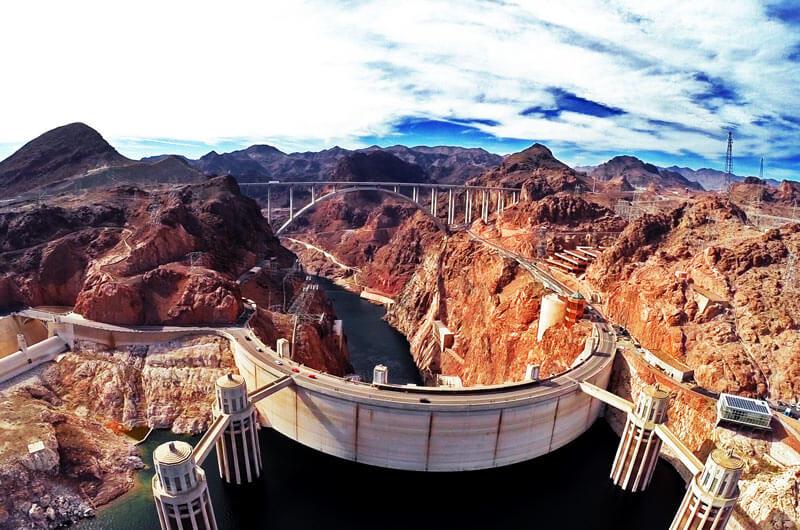 Luftaufnahme vom Hoover Dam