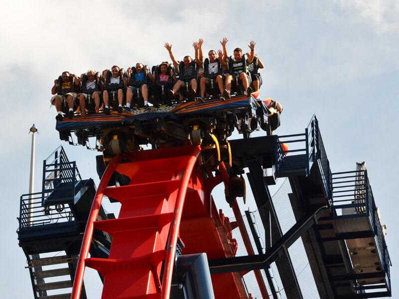 Achterbahn im Busch Gardens Tampa