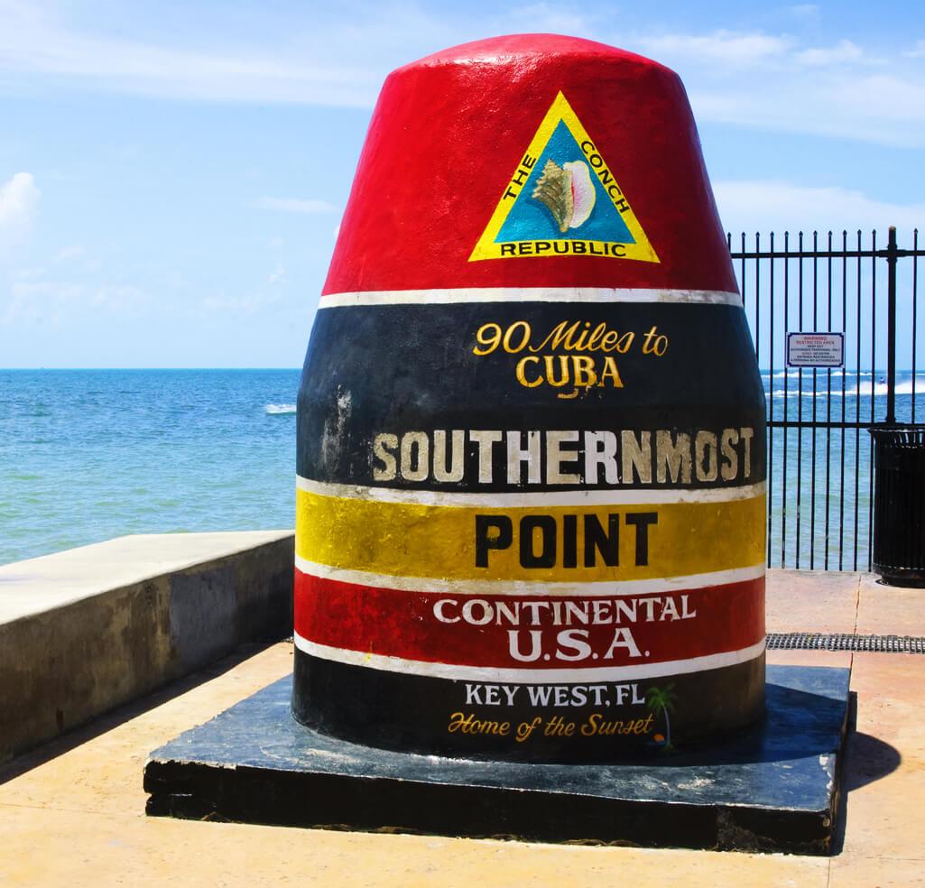 Souternmost Point in Key West ohne Toristen