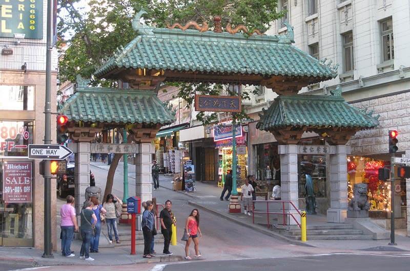 Dragon Eingang Tor zu Chinatown San Francisco
