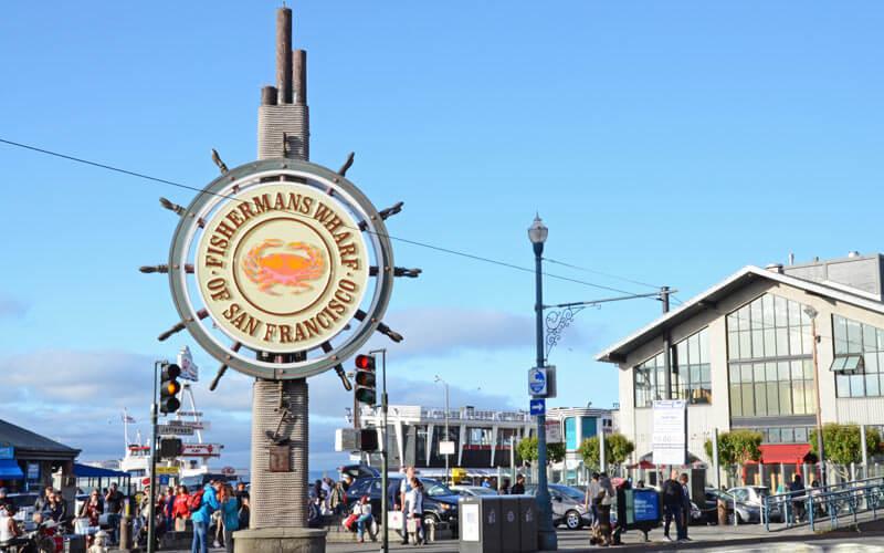 Besuch der Wishermanns Wharf während der USA Gruppenreise