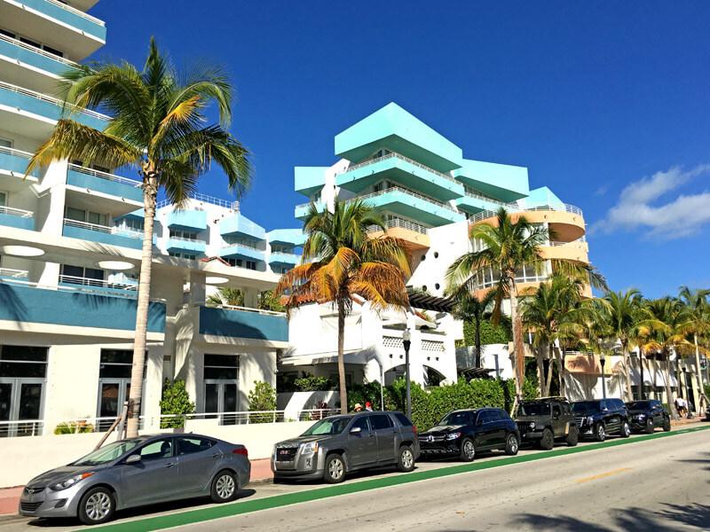 Häuser im Art Deco District am Ocean Drive