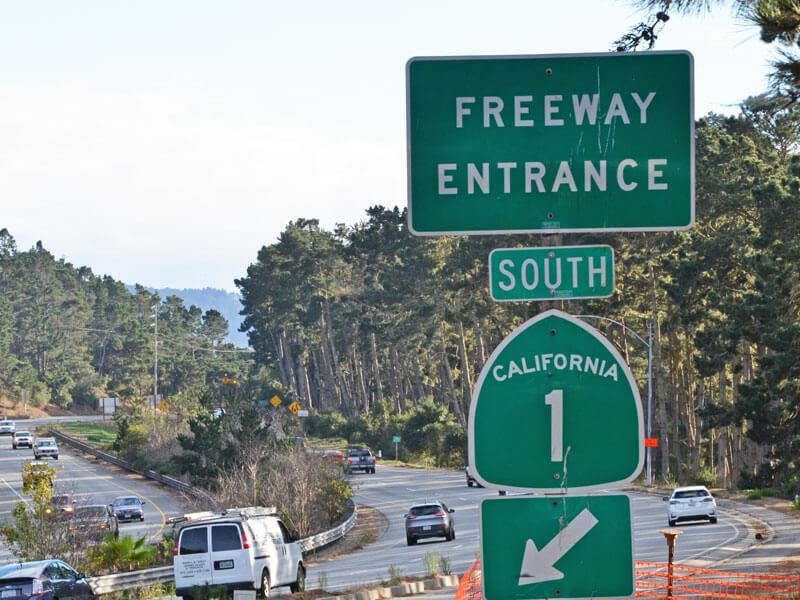 Highway No 1 Auffahrt