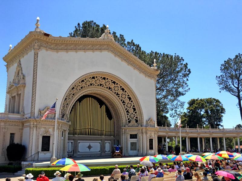 Balboa Park Orgel mit Menschen