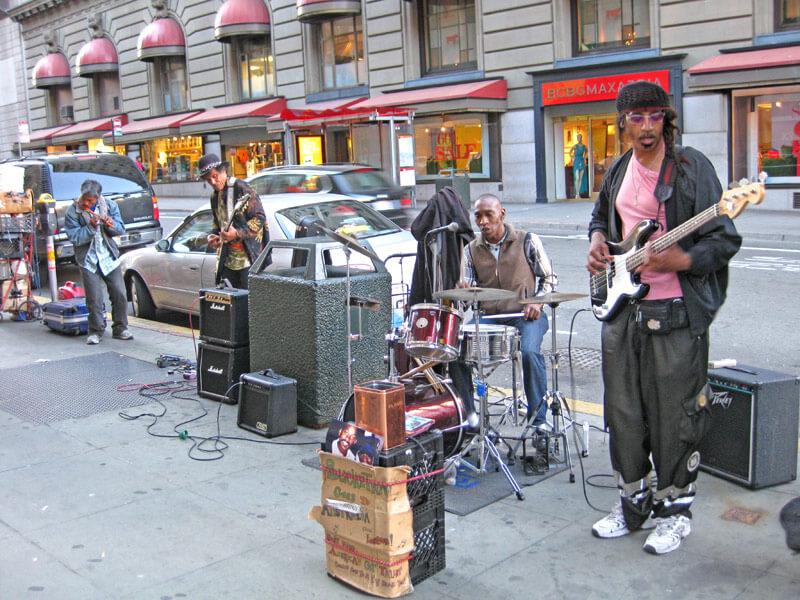 Chinatown San Francisco Straßenmusiker