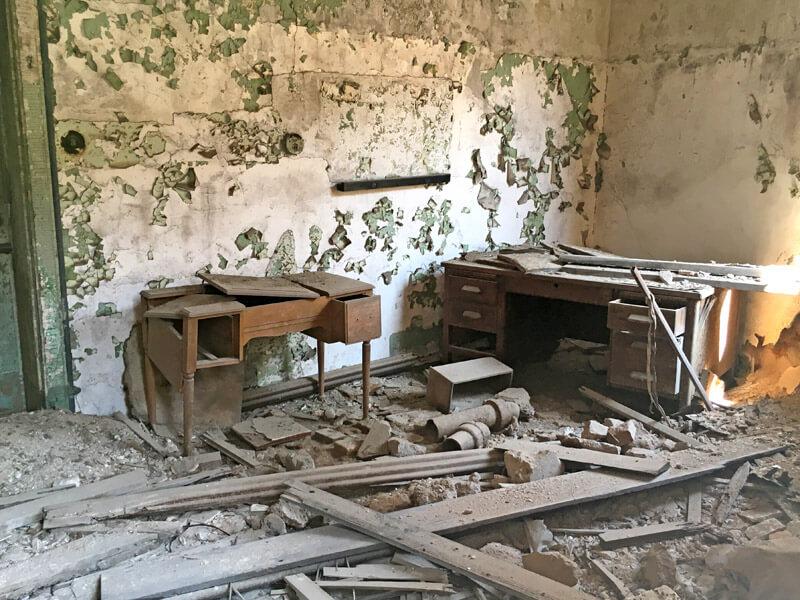 Verlassene Zelle im Eastern State Penitentiary