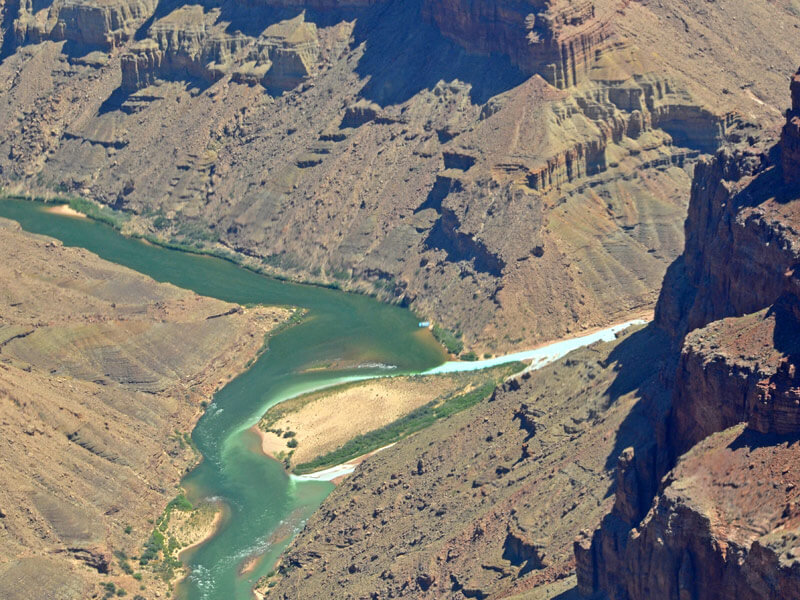 Hubschrauber Rundflug Grand Canyon Fluss