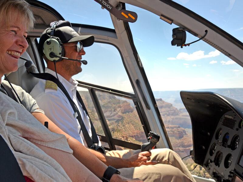 Hubschrauber Rundflug Grand Canyon Pilot