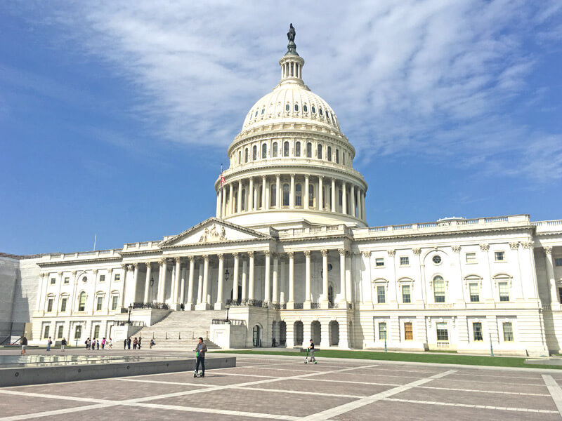 Haupteingang vom Kapitol in Washington DC