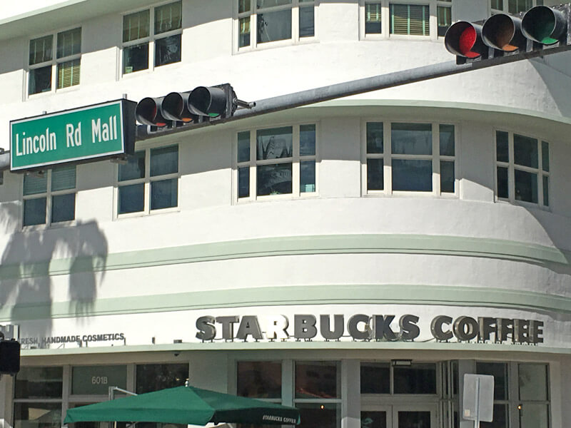 Starbucks auf der Lincol Road in Miami