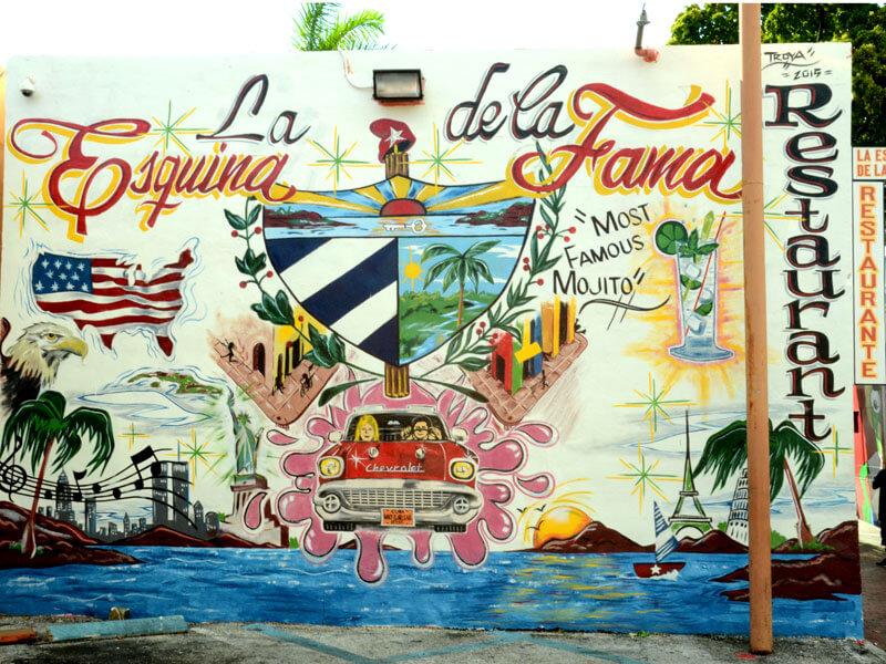 Little Havana Wandmalerei