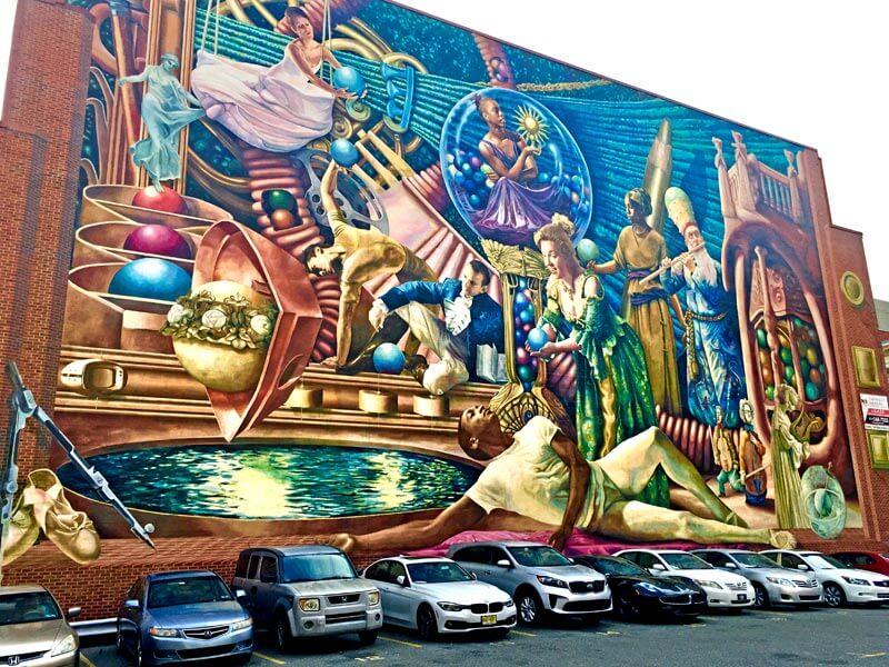 Großes Mural Art in Philadelphia