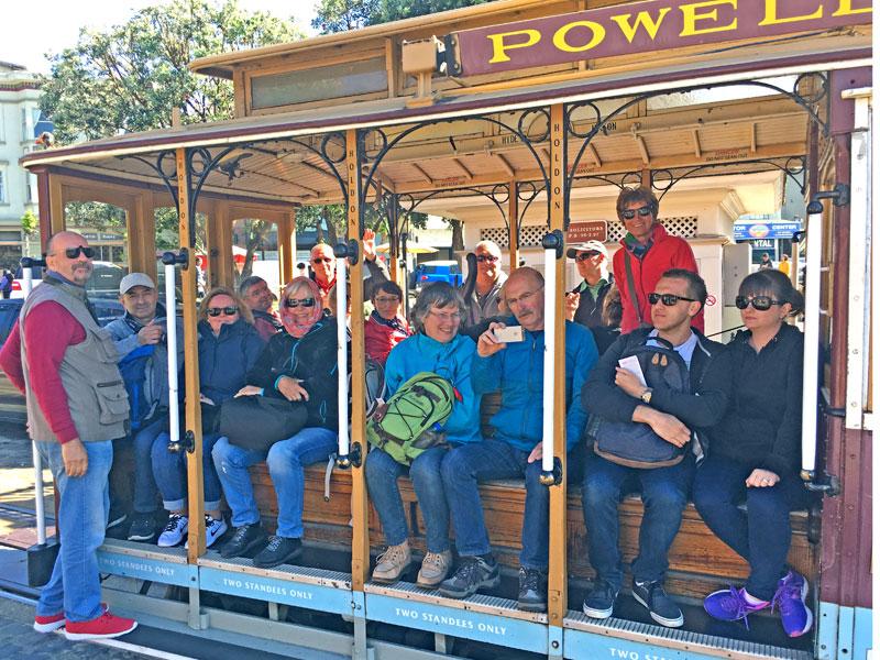 San Francisco Cable Car Reisegruppe
