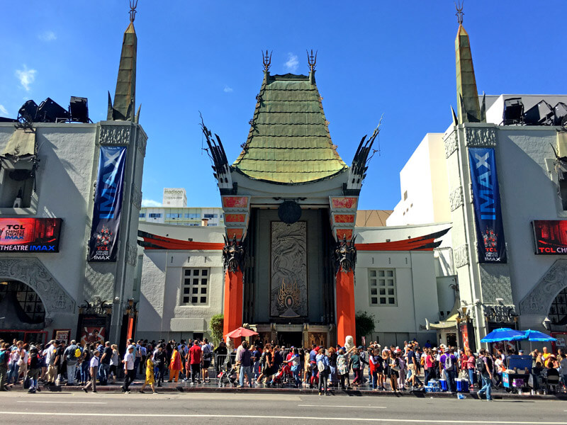 TCL Chinese Theatre Eingang Menschenmenge