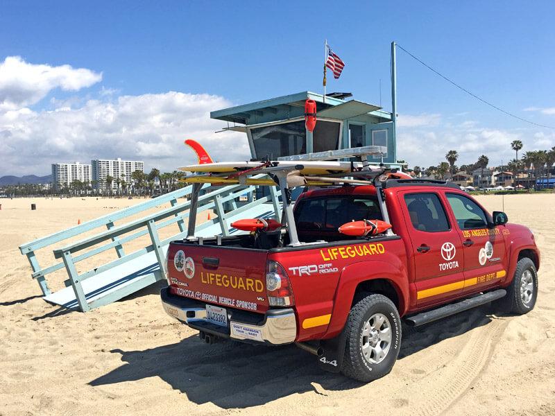 Baywatch am Venice Beach Los Angeles