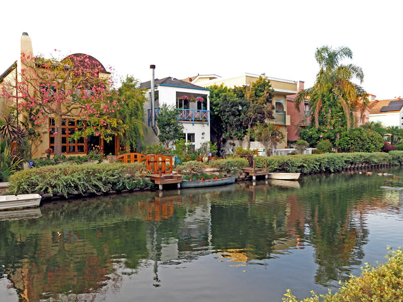 Schöne Häuser in Venice Canals