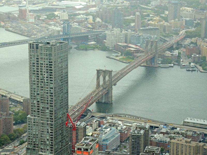 Aussichtsplattformen New York One World Observatory Ausblick
