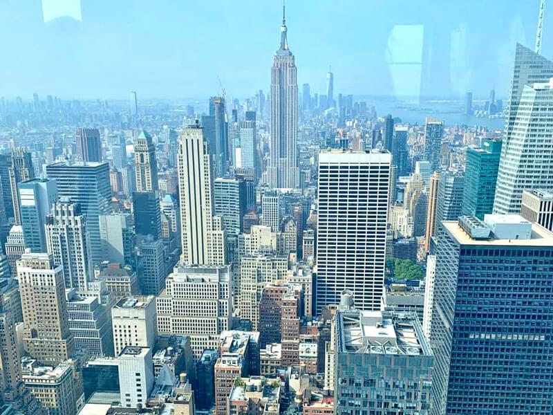 Aussichtsplattformen New York Top of the Rock Aussicht