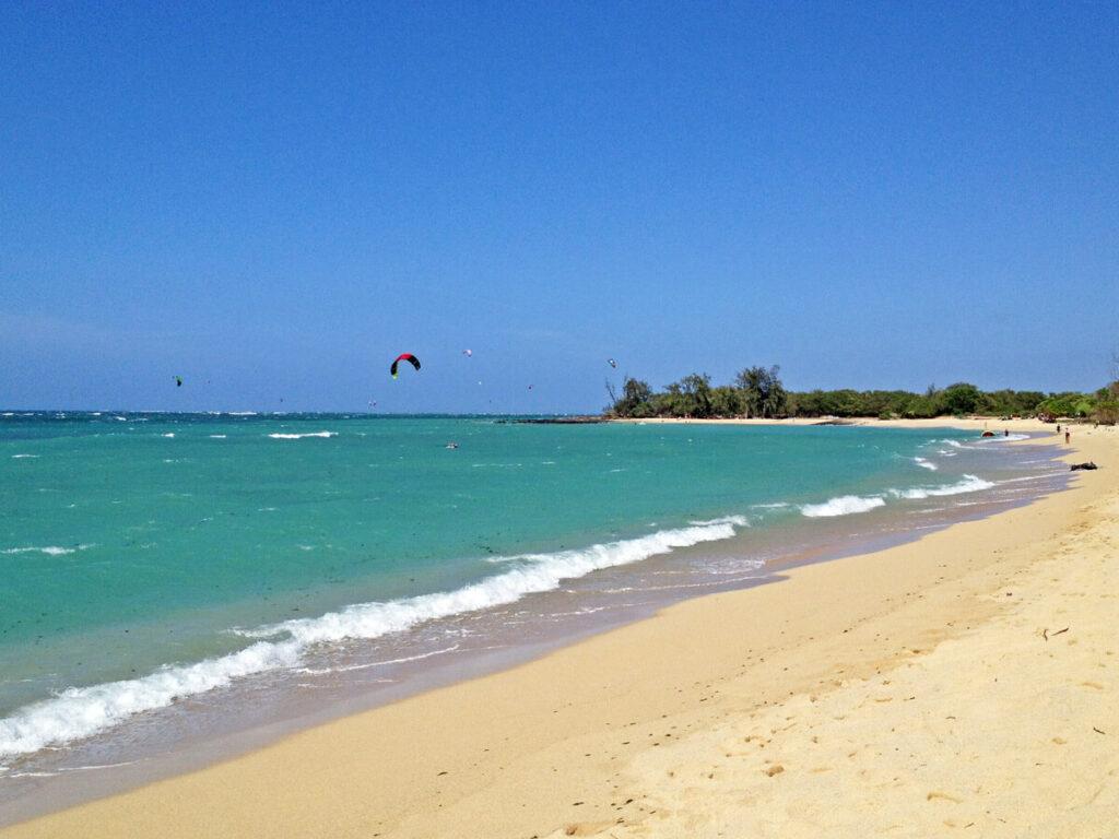 Kite Surfer am Strand
