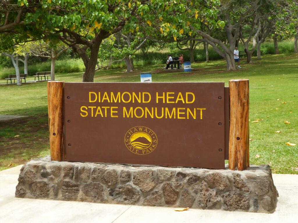Diamond Head State Monument Schild