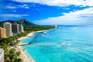 Bild vom Hotelzimmer über den Waikiki Beach