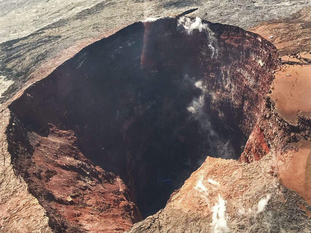 Mega Krater im Vulkano NP auf Big Island Hawaii