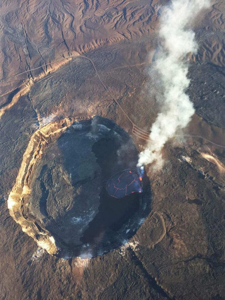 Blick in einen Krater auf Big Island