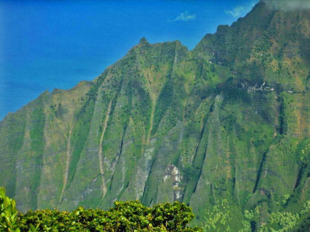 Detail Aufnahme vom Kalalau Lookout