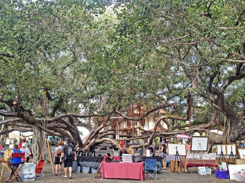 Künstlermarkt am Banyanbaum in Lahaina