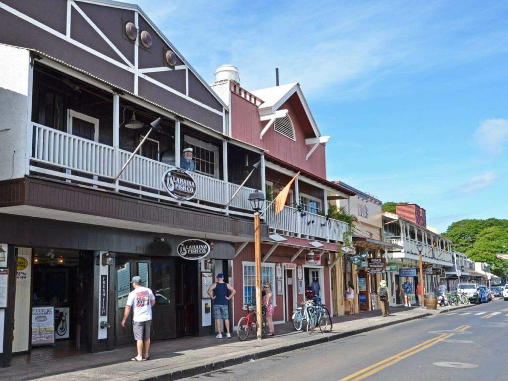 Hauptstrasse von Lahaina auf Maui