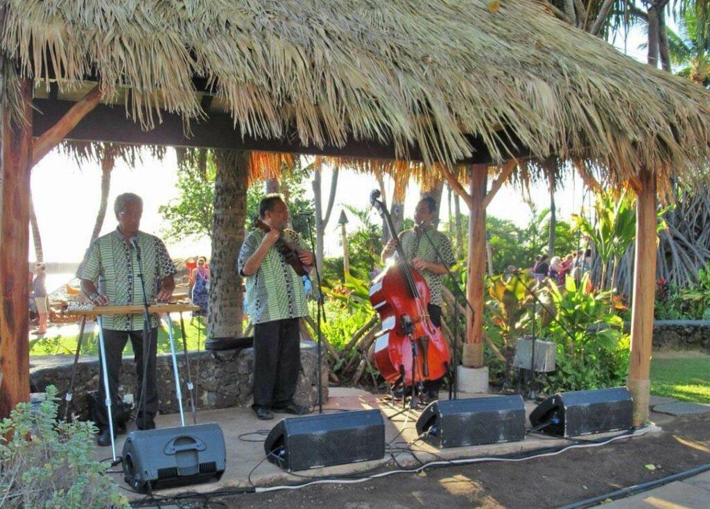 Band auf dem Old Lahaina Luau