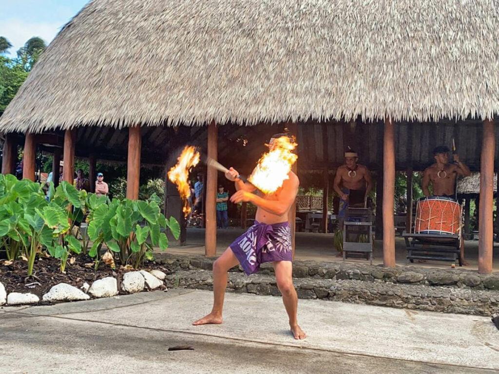 Feuertanz im Polynesian Cultural Center