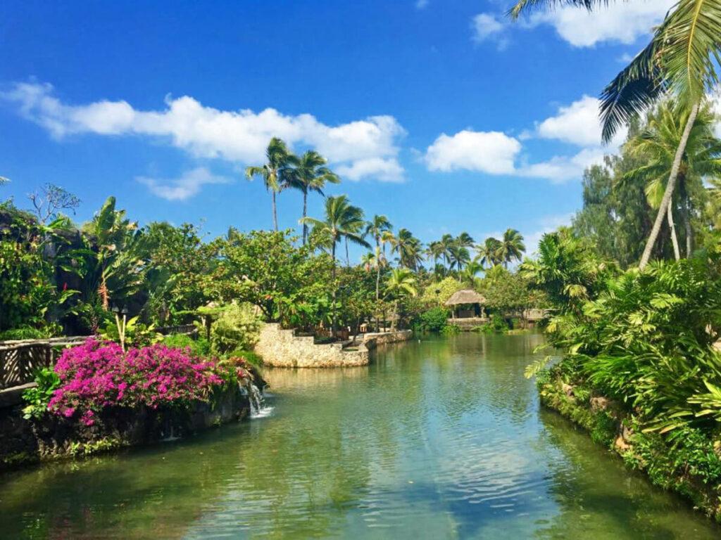 Wasserlandschaft im Polynesian Cultural Center