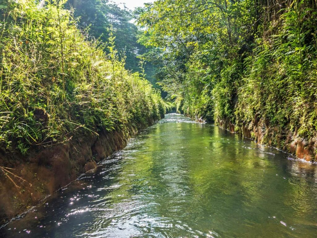 Wasserweg beim Tubing Anbieter auf Kauai