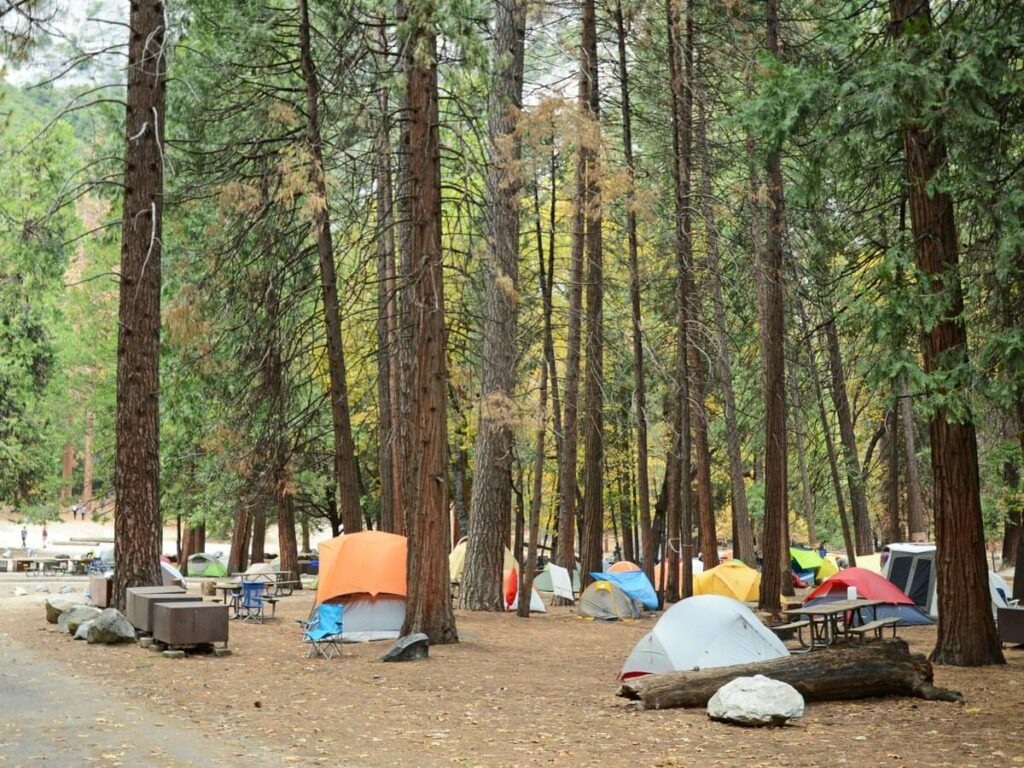 camping PLatz im Yosemite NP