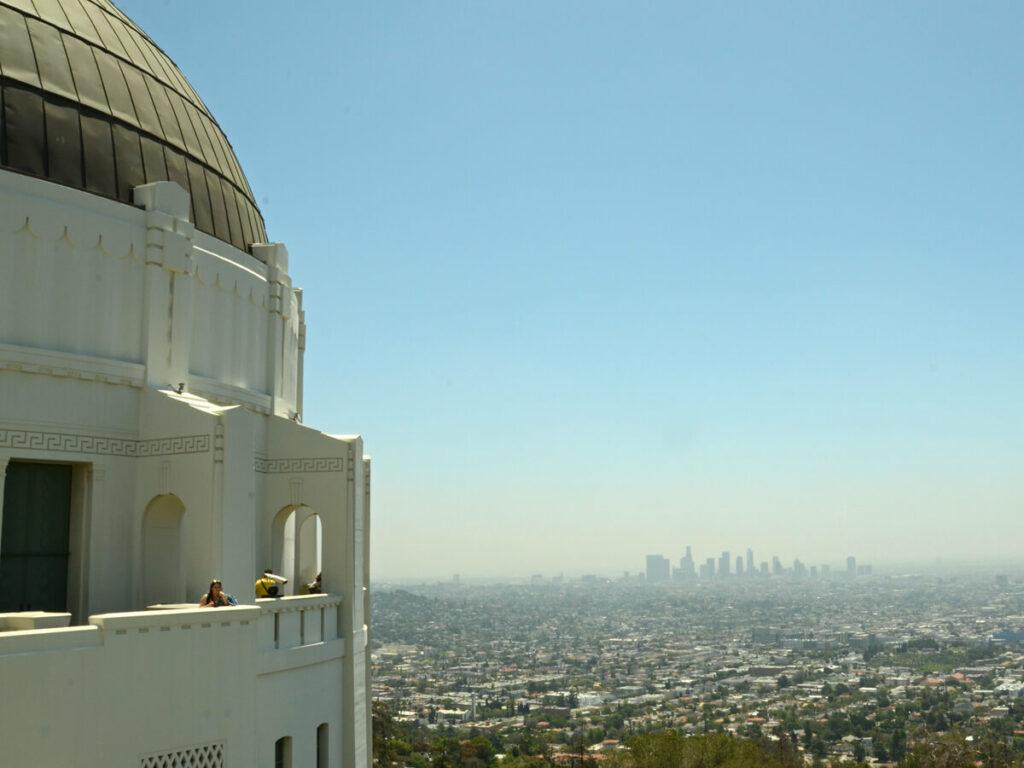 Blick auf die Stadt vom Griffith Observatorium