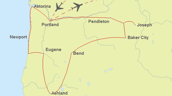 Oregon Rundreise Routenvorschlag