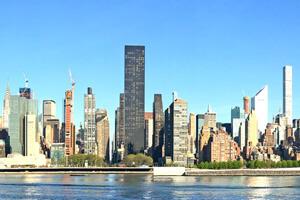 Die Skyline von New York als top Sehenswürdigkeit