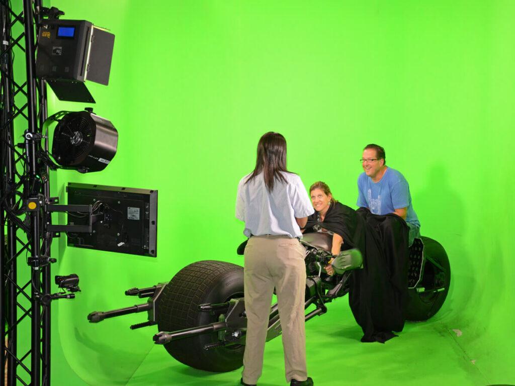 Batmobil auf einer Green Screen in den Warner Bros. Studio