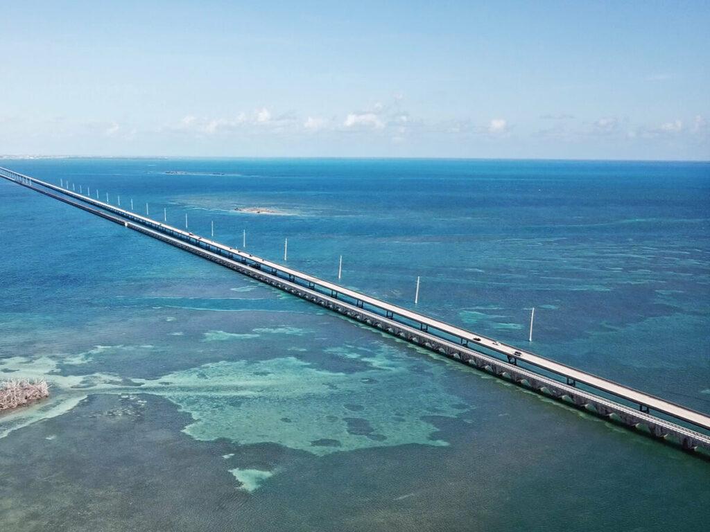 Luftaufnahme der 7 Mile Bridge