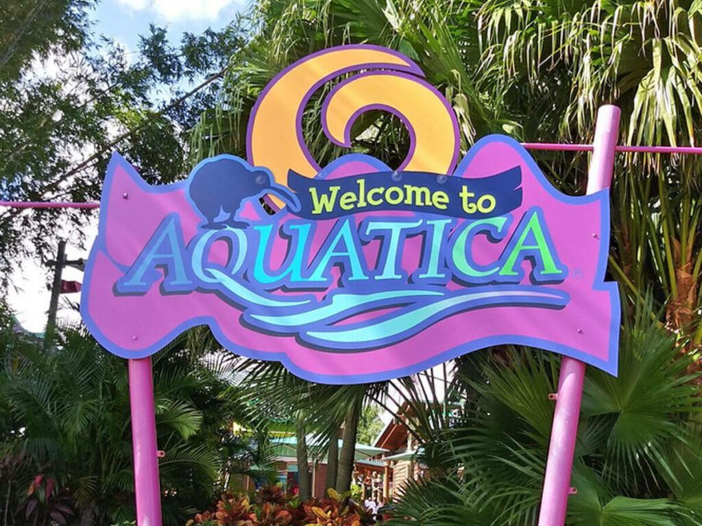 Willkommensschild vom Aquatica