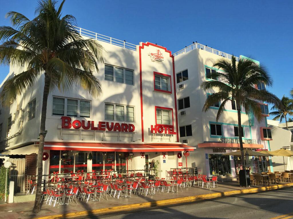 Boulevard Hotel im Art Deco District auf dem Ocean Drive